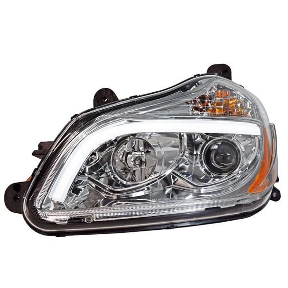 Kenworth T680 Chrome Projector Headlights - Light Bar