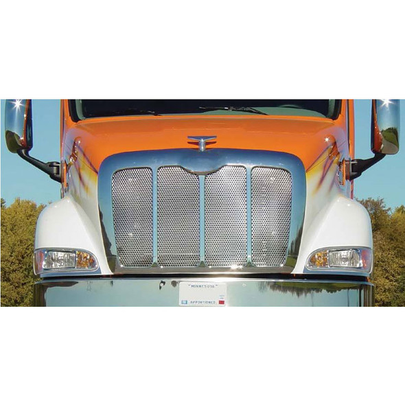 Peterbilt 387 Punched Grill Insert Mounted