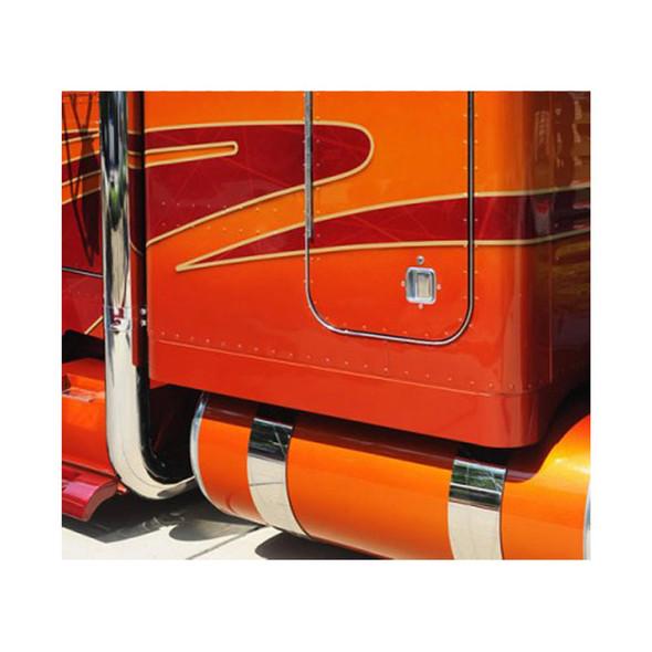 Kenworth Or Peterbilt Fuel Tank Straps Straight Style On Truck