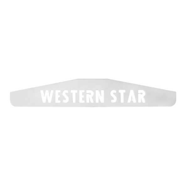 Western Star Chrome Bottom Mud Flap Weight