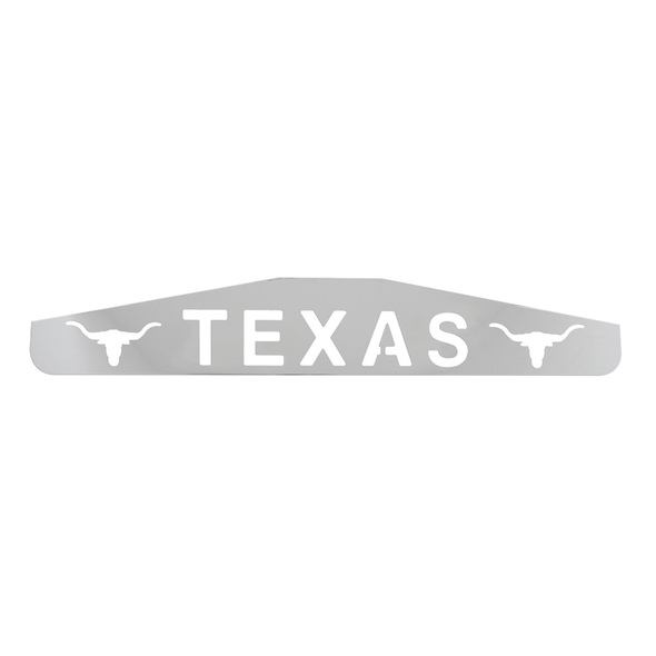 Texas with Longhorn Chrome Bottom Mud Flap Weight