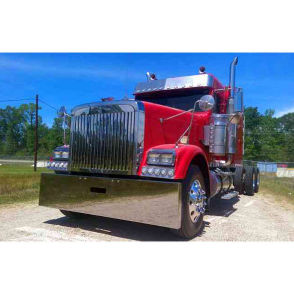 Freightliner Classic & Cabover Boxed End Bumper Side View