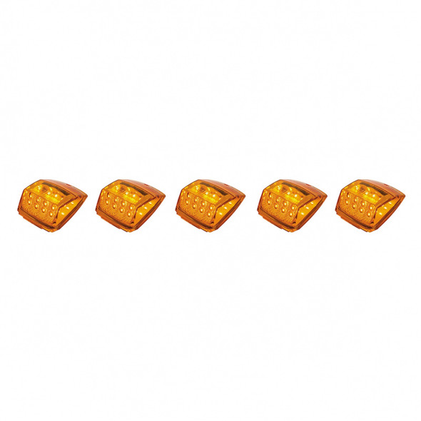 17 LED Reflector Square Cab Light Pack Amber On