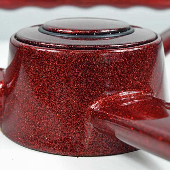 "20"" Red Retro Sparkle 3 Spoke Steering Wheel - Close Up"