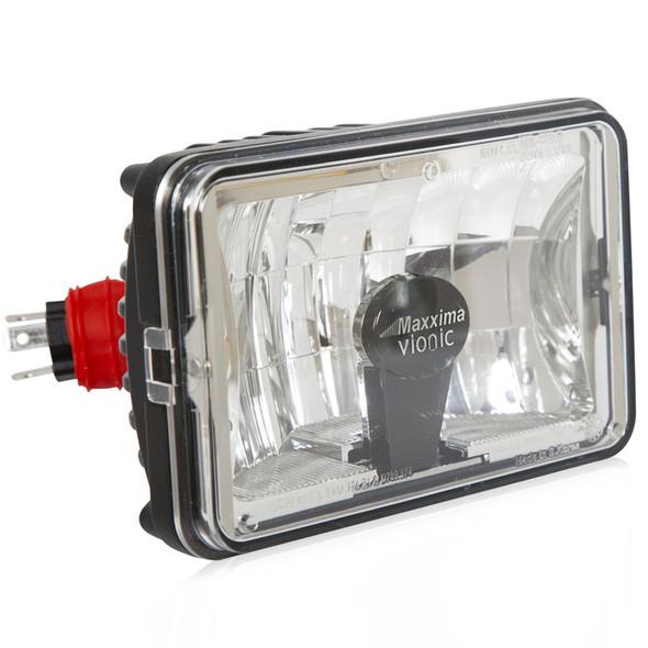 "2nd Generation 4"" X 6"" Vionic Heated LED Head Light Maxx Heat Lens - High/Low Beam Connector"