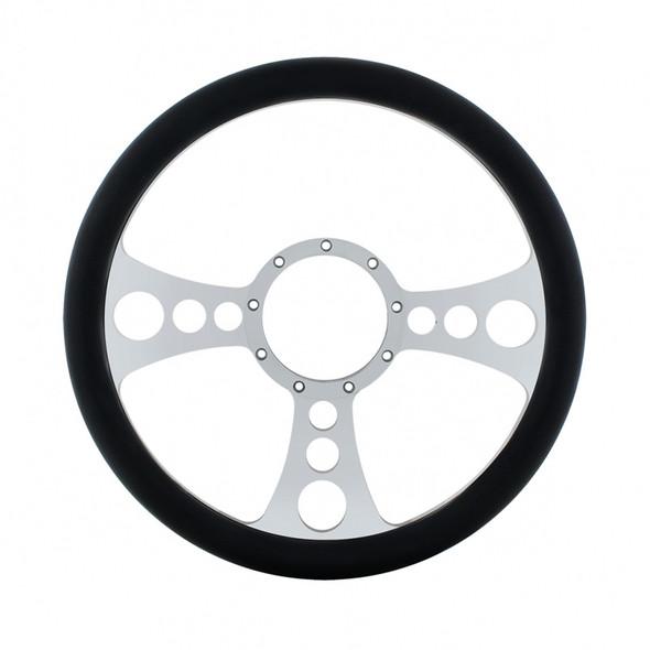 """14"""" Chrome Billet Aluminum Chopper Style Steering Wheel"""