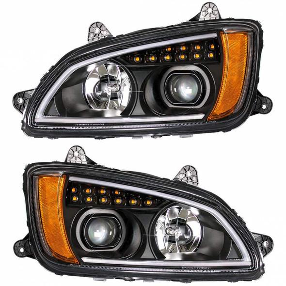 Kenworth T660 Chrome Projector Headlight LED's Off