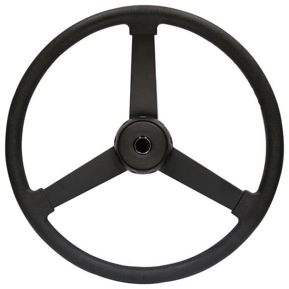"VIP Black Polyurethane 22"" 3 Spoke Steering Wheel"