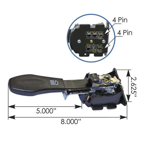 Peterbilt Turn Signal Switch Dimensions