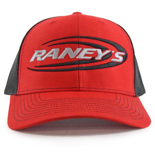 Raney's Red & Black Snapback Hat Front