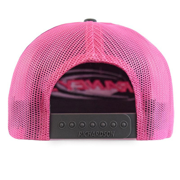 Raney's Charcoal & Neon Pink Snapback Hat Back