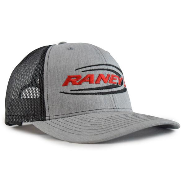 Raney's Heather Grey & Black Snapback Hat Side