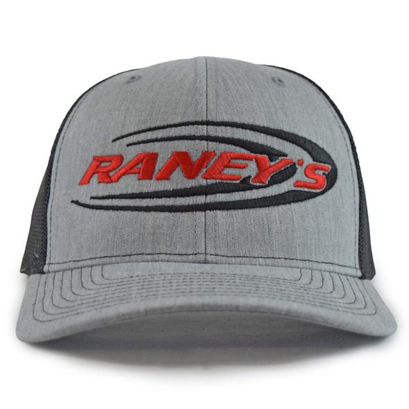 Raney's Heather Grey & Black Snapback Hat Front