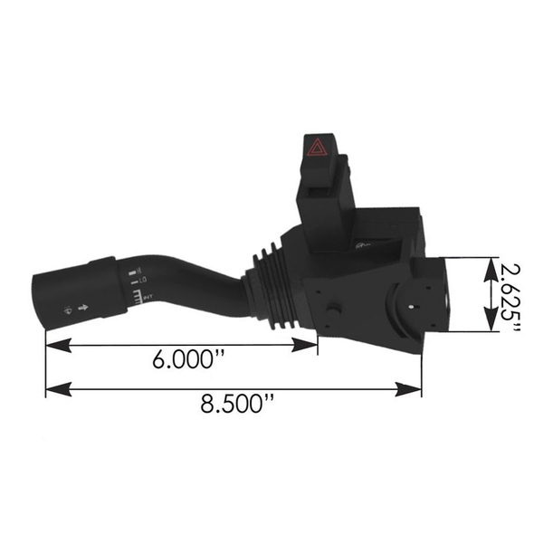 International Turn Signal Multifunction Switch Dimensions