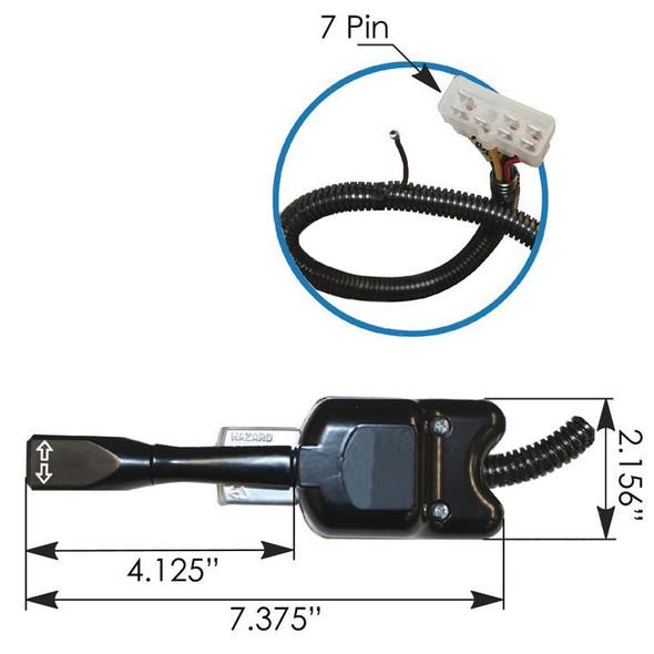 Mack RD DM MR Turn Signal Multifunction Switch Dimensions