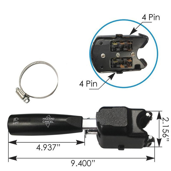 Volvo Turn Signal Multifunction Switch Dimensions