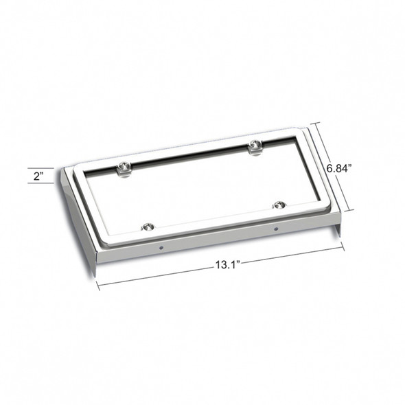 Stainless Steel License Plate Holder For 2008-2017 Freightliner Cascadia Dimensions