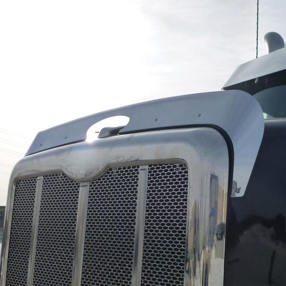 Stainless Steel Bug Deflector For 2014+ Peterbilt 567 On Truck