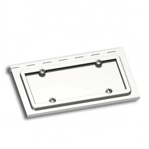 Stainless Steel License Plate Holder For Peterbilt Kenworth