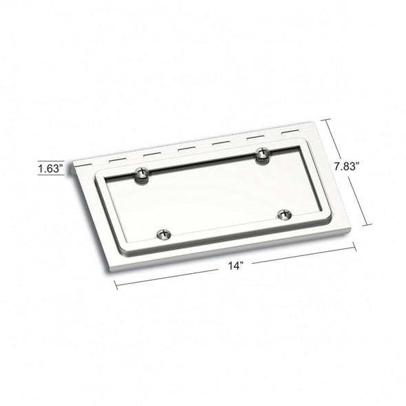 Stainless Steel License Plate Holder For Peterbilt Kenworth Dimensions
