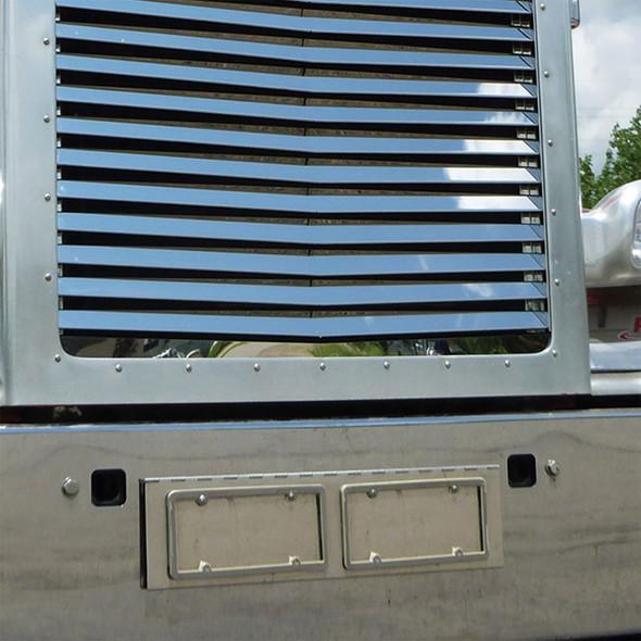 Stainless Steel Dual License Plate Holder For Peterbilt On Truck