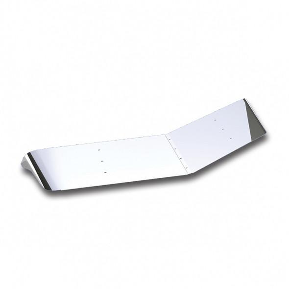 """Stainless Steel 12"""" Extended Plain Style Sunvisor Peterbilt 379 388 389 367"""