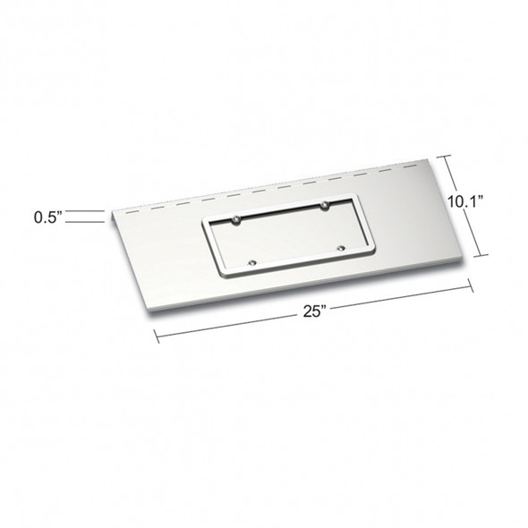Stainless Steel License Plate Holder Kenworth W900 With Texas Style Bumper Dimensions