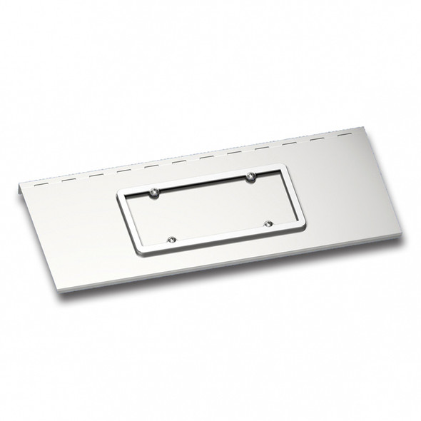 Stainless Steel License Plate Holder Kenworth W900 With Texas Style Bumper