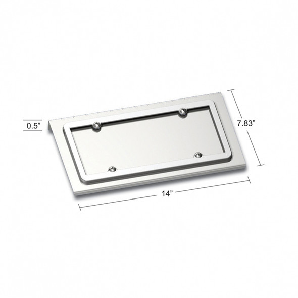 Stainless Steel License Plate Holder Kenworth Dimensions