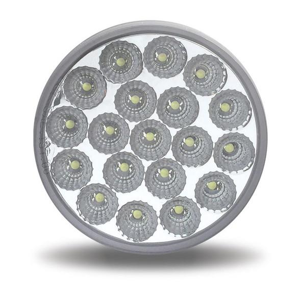 4'' Round Dual Revolution Amber Turn Signal & White Back Up LED Light Off