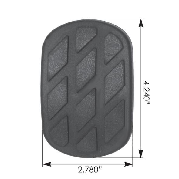 Freightliner Clutch Pedal Pad F6HZ2454AA 212780000 213807000 Dimensions