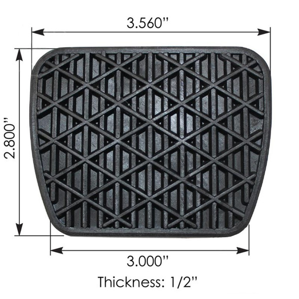 Freightliner Brake Pedal Pad 6812910082 A6812910082 Dimensions
