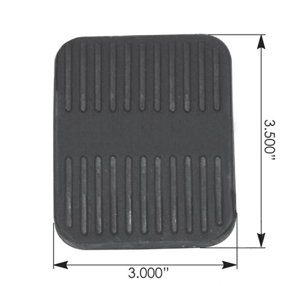 Peterbilt Brake Pedal Pad D40012654 400754 0400754AMC 600754 Dimensions
