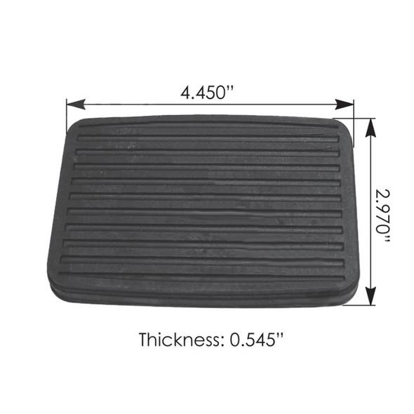 International Brake Pedal Pad W115005280 166880R1 248159 292957C1 382495C1 Dimensions