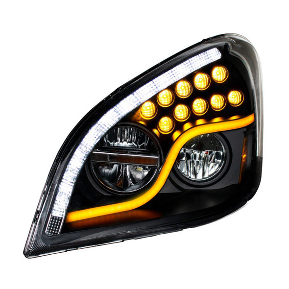 Freightliner Cascadia 2008-2017 LED Blackout Headlight Front On Driver