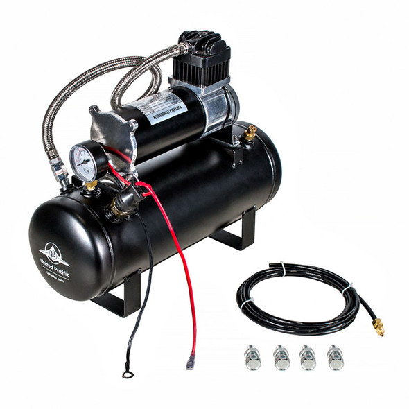 Competition Series Heavy Duty 12V 140 PSI Air Compressor & Tank Kit - Side View