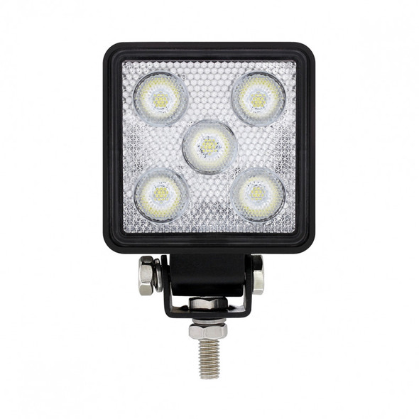 High Power 5 LED Mini Square Work Lights Front