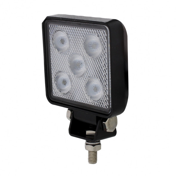 High Power 5 LED Mini Square Work Lights Angled