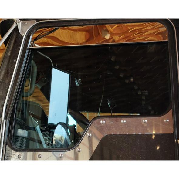 Kenworth Chop Top Window Trim 304 Stainless Steel On Truck