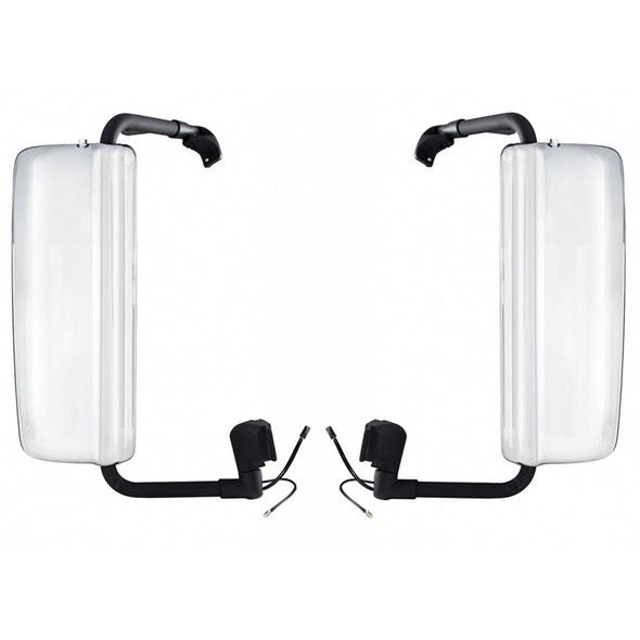 Volvo VNL Chrome Heated Mirror Assembly - Both Sides
