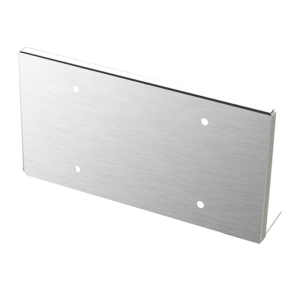 Stainless Steel Under Bumper Mount Single License Plate Holder