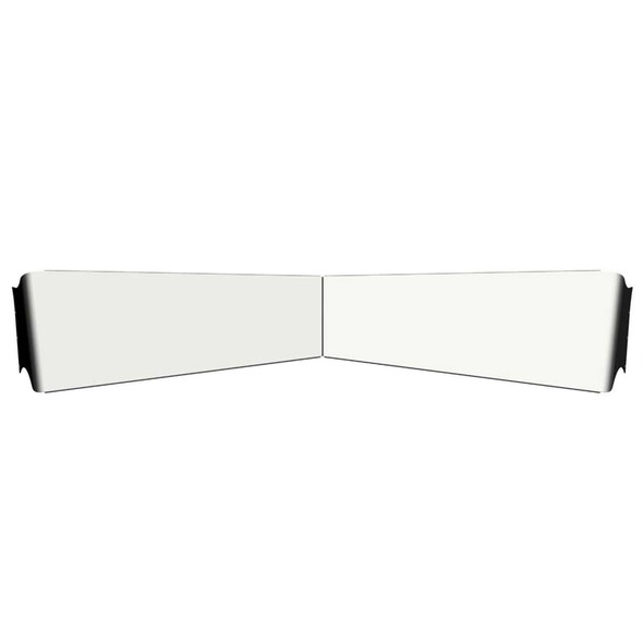 """Kenworth 13"""" Reverse Bowtie Visor For Flat Or Curved Windshields"""