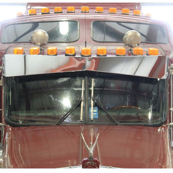 Kenworth Bowtie Visor For Flat Or Curved Windshields On Truck Front View