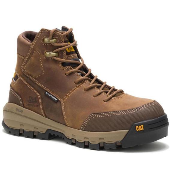 Mens Device Waterproof Composite Toe Tough Trucker CAT Work Boots
