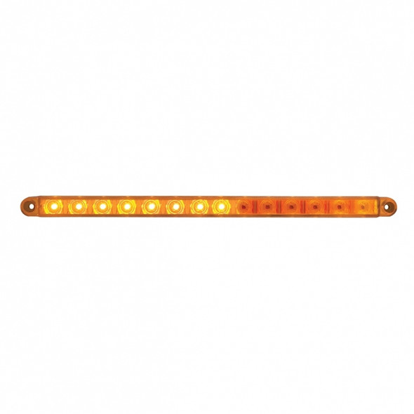 """12"""" Sequential 14 LED Amber Light Bar"""