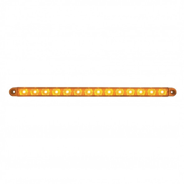 """12"""" Sequential 14 LED Amber Light Bar On"""