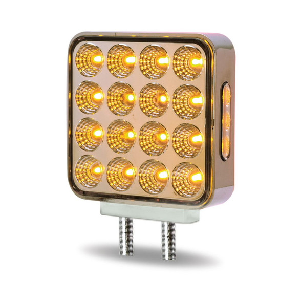 Square Dual Function Double Face Fender LEDs Amber