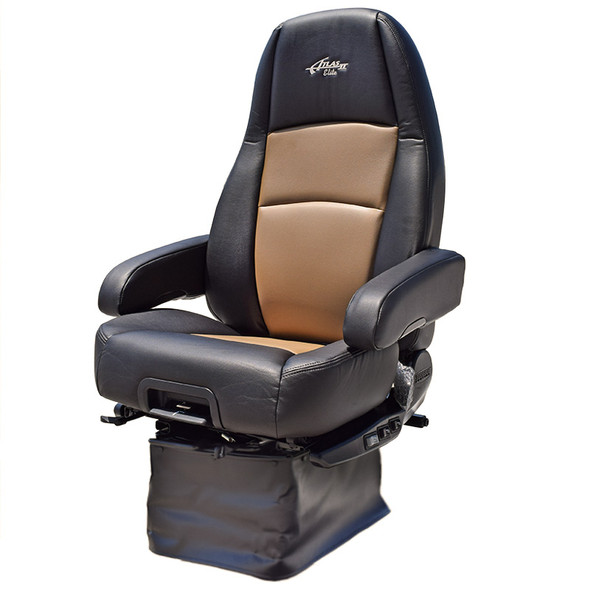 Sears Atlas II DLX Seat Highback Black & Tan Leather With Arm Rests