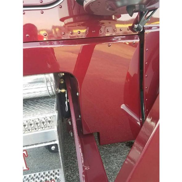 "Peterbilt 388 389 Fiberglass Car Transport 6"" Cab And Cowl Panels"