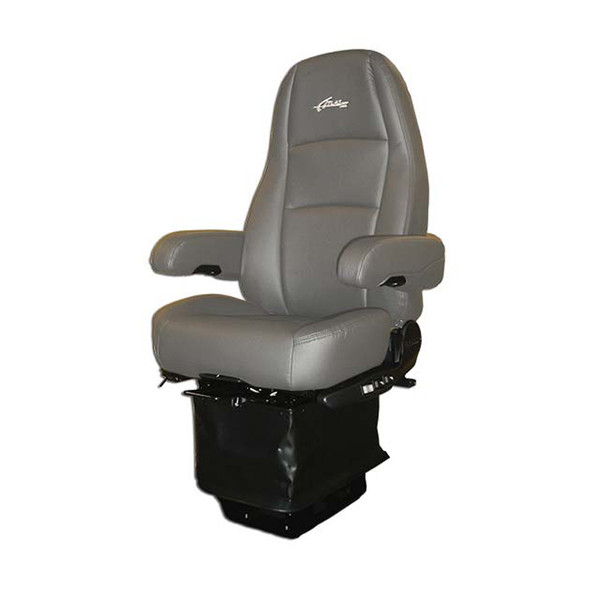 Sears Atlas II DLX Seat Highback Grey Leather With Arm Rests
